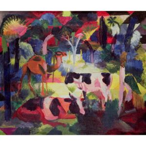 Landscape with Cows and a Camel Reproducere, August Macke