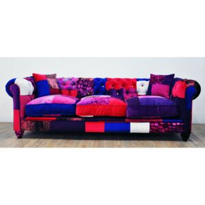 Sofa Chesterfield Patchwork - Purple Love