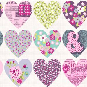 Arthouse Tapet - Patchwork Heart Patchwork Heart Purple