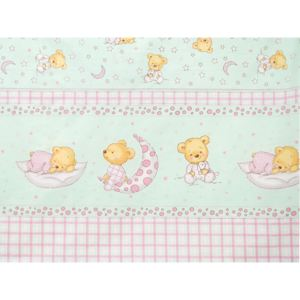 Lenjerie Teddy Stelute Turquoise M1 4 Piese 140x70