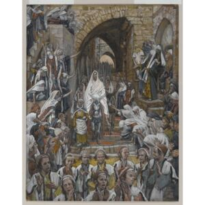 The Procession in the Streets of Jerusalem, illustration from 'The Life of Our Lord Jesus Christ', 1886-94 Reproducere, James Jacques Joseph Tissot