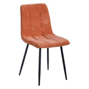 Scaun dining portocaliu din textil Orange Tile Chair