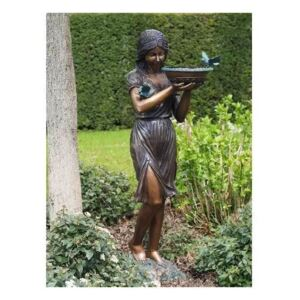 Statuie de bronz clasica Woman with vase fountain 162x65x50 cm