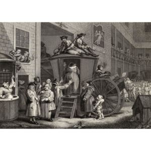 Country Inn Yard, engraved by Timothy Engleheart (1803-79) from 'The Works of Hogarth', published 1833 Reproducere, William (after) Hogarth