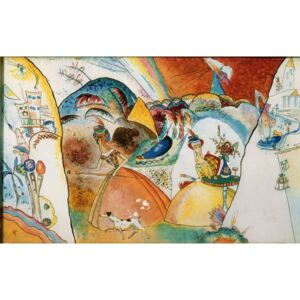 Ladies in a Landscape, 1918 Reproducere, Wassily Kandinsky