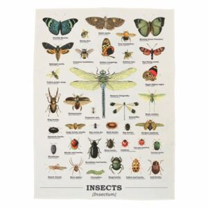 Prosop din bumbac Gift Republic Insects