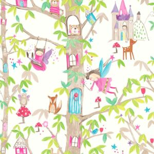 Arthouse Tapet - Woodland Fairies Woodland Fairies White