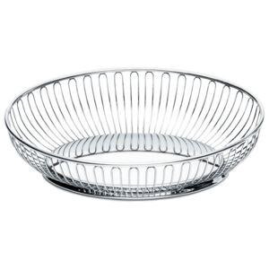 Vase decorative 826 Wire Basket by Alessi, oval, 28 x 20 cm