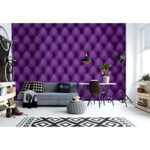 Fototapet GLIX - Luxury Purple Chesterfield + adeziv GRATUIT Tapet nețesute - 206x275 cm