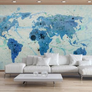 Fototapet Bimago - Cruising and sailing - The World map + Adeziv gratuit 450x270 cm