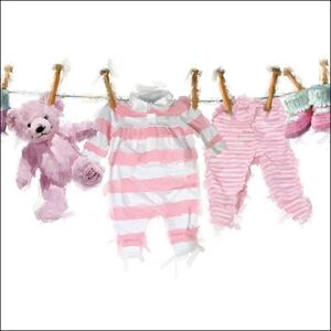 Servetele Baby Girl Clothes 25x25 cm