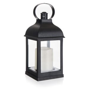 Felinar Home Decor. cu lumânare LED, 10 x 10 x 22 cm