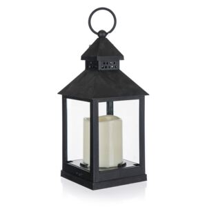 Felinar Home Decor. cu lumânare LED, 10 x 10 x 23 cm