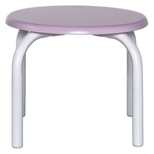 Scaunel copii din metal si MDF roz Rose Stool Bloomingville