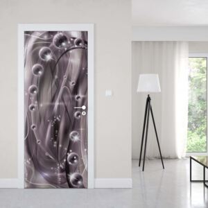 GLIX Tapet netesute pe usă - 3D Modern Ornamental Design Purple