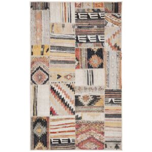 Covor Patchwork Leighton, Taupe/Multicolor, 90x150