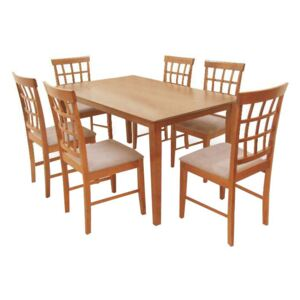 Set dining 1+6, cires, GRID NEW
