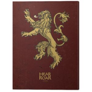 Tablou Canvas Game Of Thrones - Lannister, (30 x 40 cm)