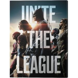 Tablou Canvas Justice League Movie - Unite The League, (60 x 80 cm)