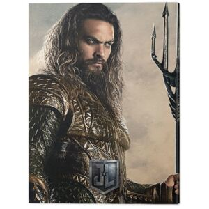 Tablou Canvas Justice League Movie - Aquaman, (60 x 80 cm)