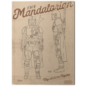 Tablou Canvas Star Wars: The Mandalorian - Action Figure, (30 x 40 cm)