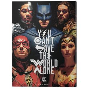 Tablou Canvas Justice League Movie - Save The World, (60 x 80 cm)