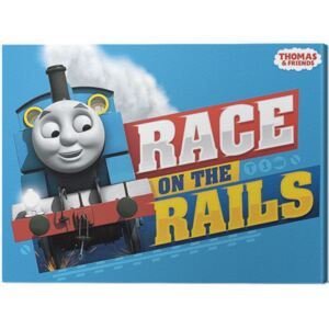 Tablou Canvas Thomas & Friends - Race on the Rails, (40 x 30 cm)