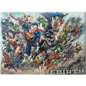 Tablou Canvas Justice League - Rebirth, (80 x 60 cm)