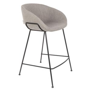 Scaun de bar gri (H88,5cm) Feston Fab Grey