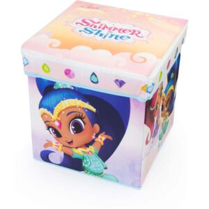 Cutie depozitare taburet Shimmer and Shine, 30x30x30 cm