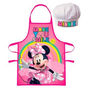 Set sort si boneta de bucatar Minnie Mouse Smile
