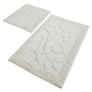 Set 2 covorase baie bumbac, Alessia Home, Stone -