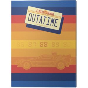 Back To The Future - Retro Stripes Tablou Canvas, (30 x 40 cm)