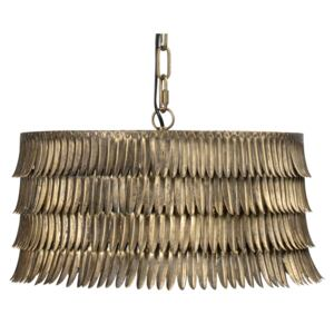 Lustra din fier Hawaii Antique Brass, un bec