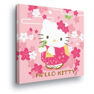 GLIX Tablou - Hello Kitty with Flowers 80x80 cm