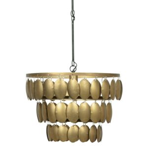 Lustra din metal Moondust Antique Brass, un bec