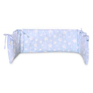 Protectie laterala pat 140 x 27 cm bumbac ranforce Little Stars Blue