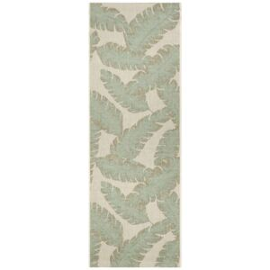 Covor Modern & Geometric Outdoor, Taupe/Verde 70x200