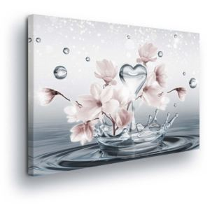 GLIX Tablou - Flowers in Water Drops 100x75 cm