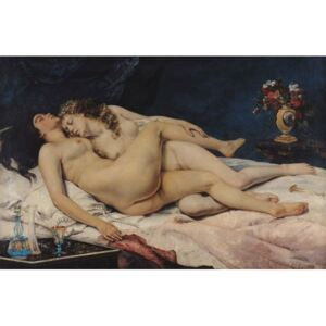 Le Sommeil, 1866 Reproducere, Gustave Courbet