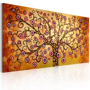 Mână pictată imagine Bimago - Peacock tree 120x60 cm