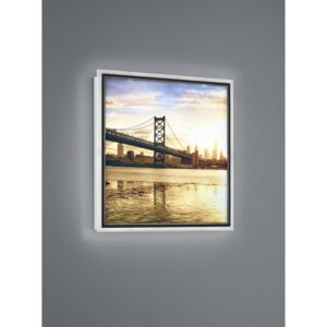 Trio BRIDGE R22140201 Iluminat tablou alb plastic incl. 12,5W LED/ 3000K/ 1100Lm 1100lm IP20 A+