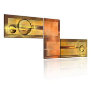 Tablou Bimago - Space of gold 100x40 cm