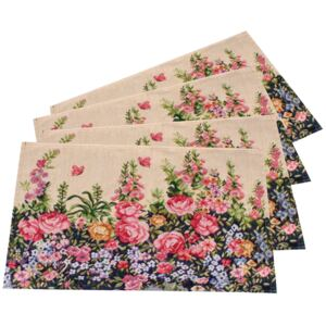 Suport farfurie Flowers, 33 x 48 cm, set 4 buc