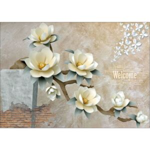 Fototapet Abstract Welcome Flowers Autocolant perete 200x300 cm