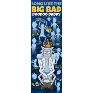 Rick & Morty - Doodoo Daddy Poster, (53 x 158 cm)