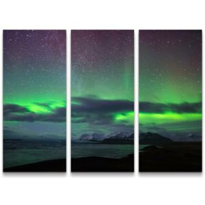 Tablou canvas Northern Lights in Iceland , 90 x 130 x 4 cm