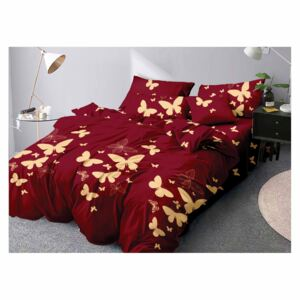 Lenjerie Evolution bumbac satinat ELV318 Yellow Butterflies