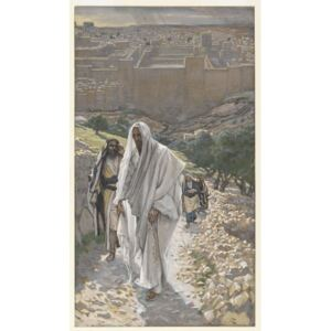 James Jacques Joseph Tissot - Jesus goes in the Evening to Bethany, illustration from 'The Life of Our Lord Jesus Christ', 1886-94 Reproducere