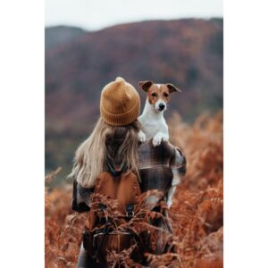 Fotografii artistice Woman traveling with her dog, Javier Pardina